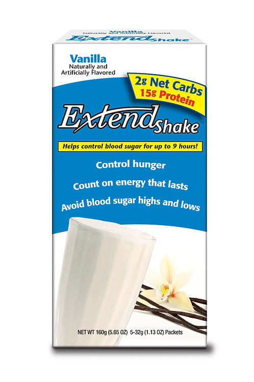 Extend Nutritional Shake Mix VANILLA - 12 boxes