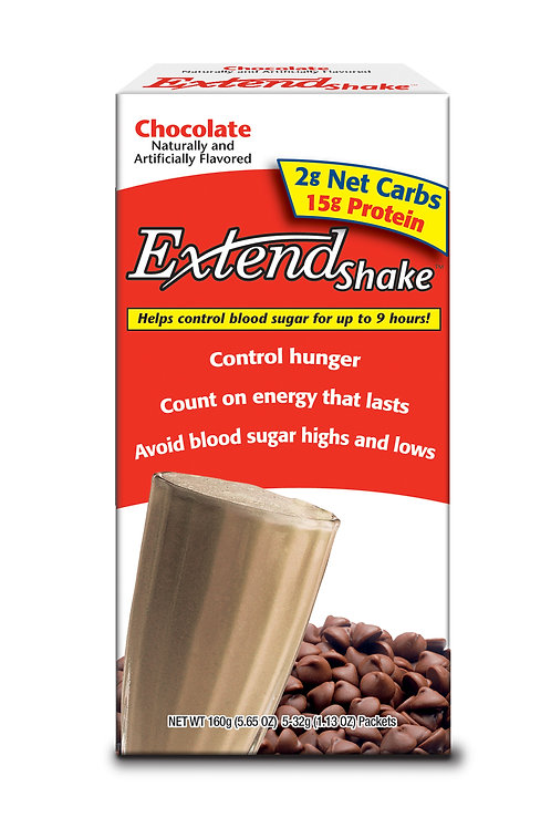 Extend Nutritional Shake Mix CHOCOLATE - 12 boxes
