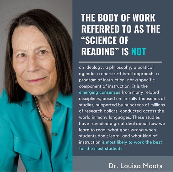 Science of Reading Research Dr Louisa Moats