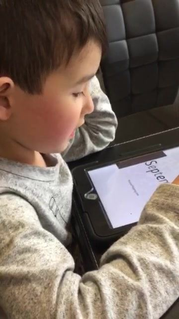 Watch this Monster Tot practising his high frequency words!  Sight Words Done Differently - Handbook and SSP Monster Mapping app.