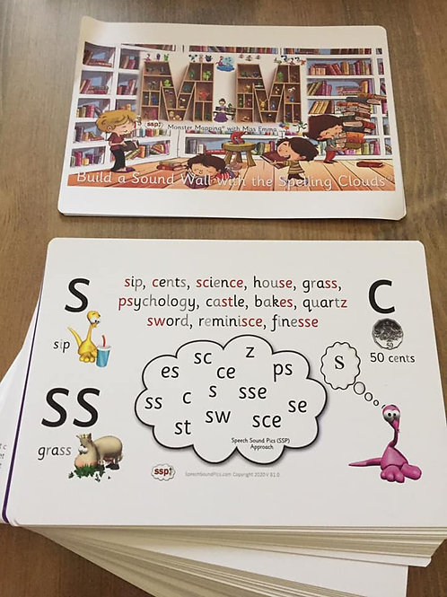 A5 Spelling Clouds for Walls - No Colour Bands