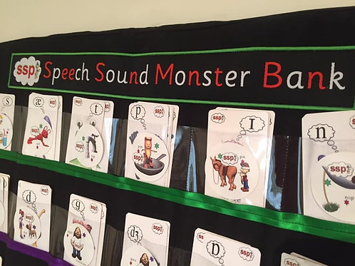Speech Sound Monster Bank, 2 Packs Monster Cards, Sound Pic Cards