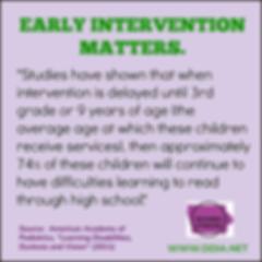 An earlyinterventin for dyslexia MATTERS