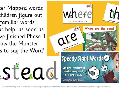 Picture embedded mnemonics and the Speech Sound Monsters (Phonetic Symbol Embedded!)
