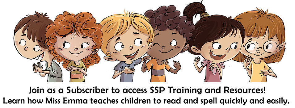 Join as an SSP subscriber to access online training and resources, and learn how Miss Emma teaches children to read and spell.