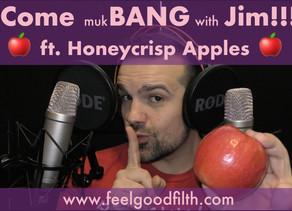 My First ASMR Whisper Eating MUKBANG!!! 먹방 (ft. Honeycrisp Apples)