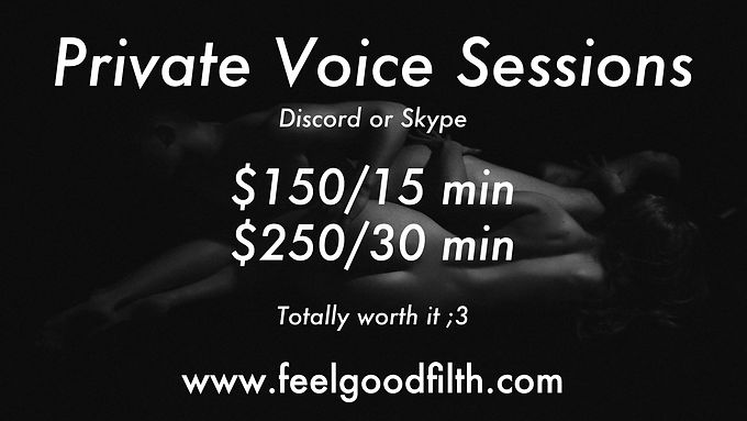 Private Voice Sessions Now Available!