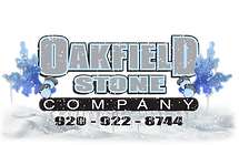 Oakfield Stone Logo Winter snow website.