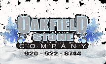 Oakfield Stone Logo Winter snow website.