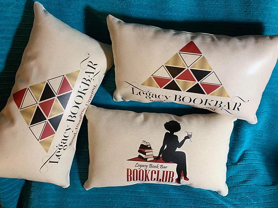 Legacy BookBar Store and Book Club Pillows