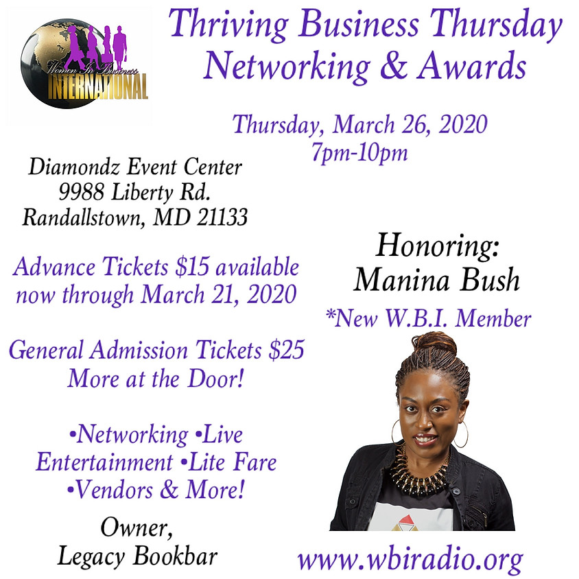 Thriving Business Thursday Networking & Awards