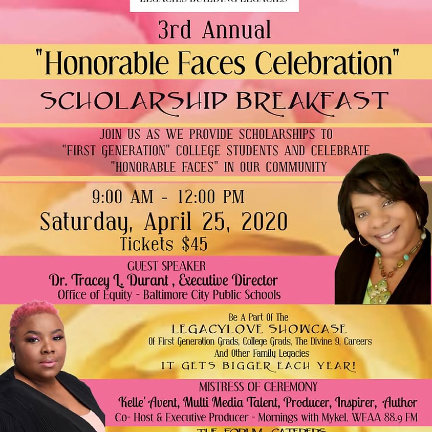 3rd Annual Honorable Faces Celebration Scholarship Breakfast