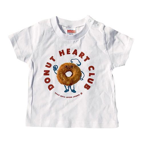 Mr.Donut Heart PHOTO KIDS T-SHIRT (90cm)