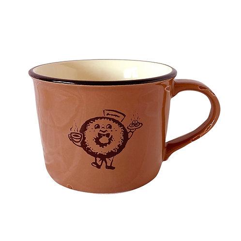 DONUT HEART CLUB mug cups - 2020 edition <BROWN>
