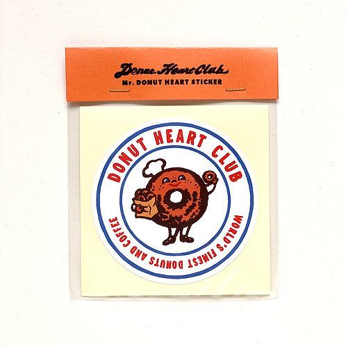 DONUT HEART CLUB sticker
