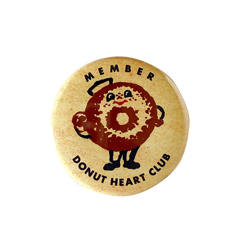 DONUT HEART CLUB membership button badge