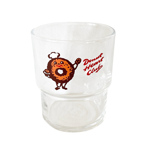 DONUT HEART CLUB Stackable drinking glasses