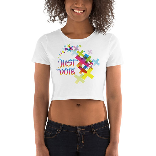 Just Vote Women's Crop Tee