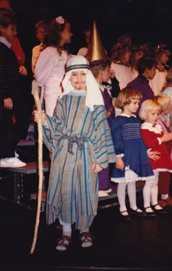 First acting gig at church.