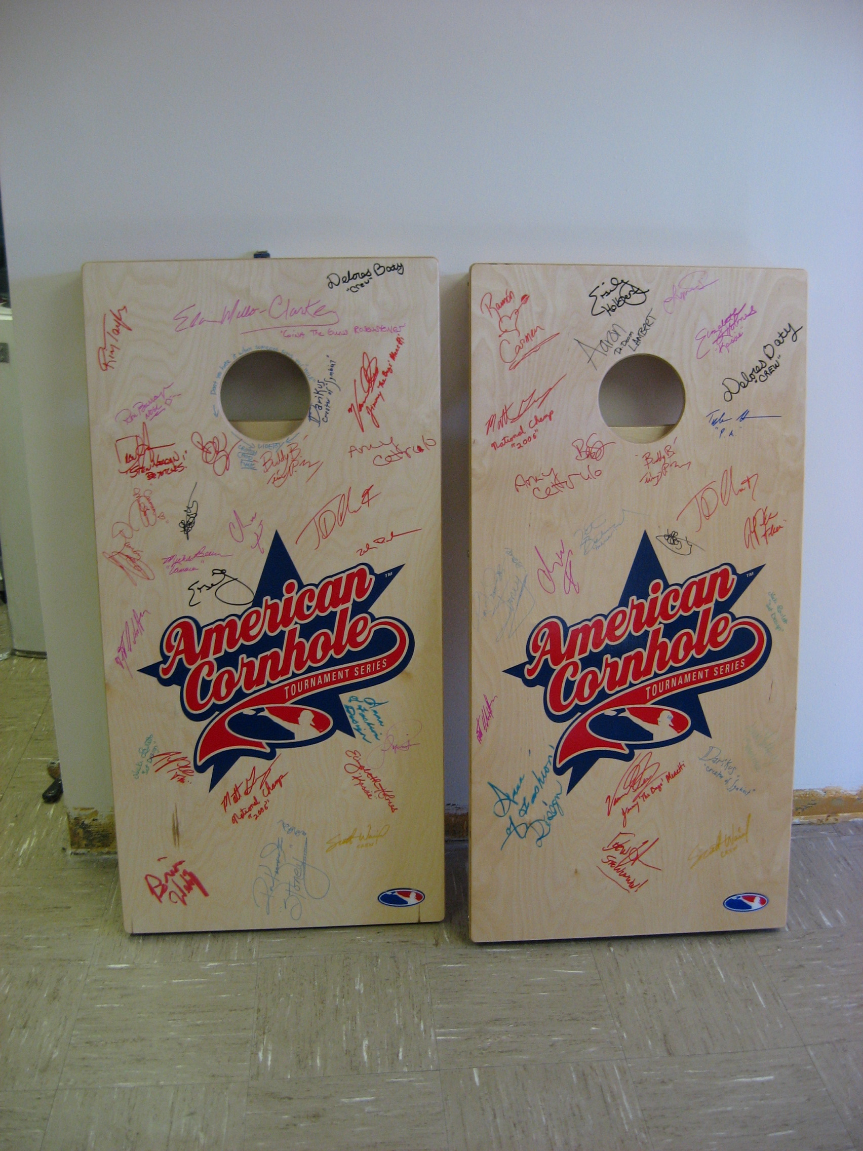 Signed Cornhole Boards