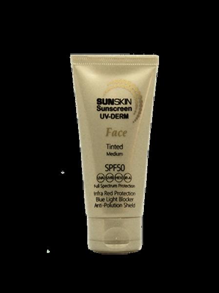 SUNSKIN FACE SPF 50 Light Tinted Sunscreen 50ml Tube