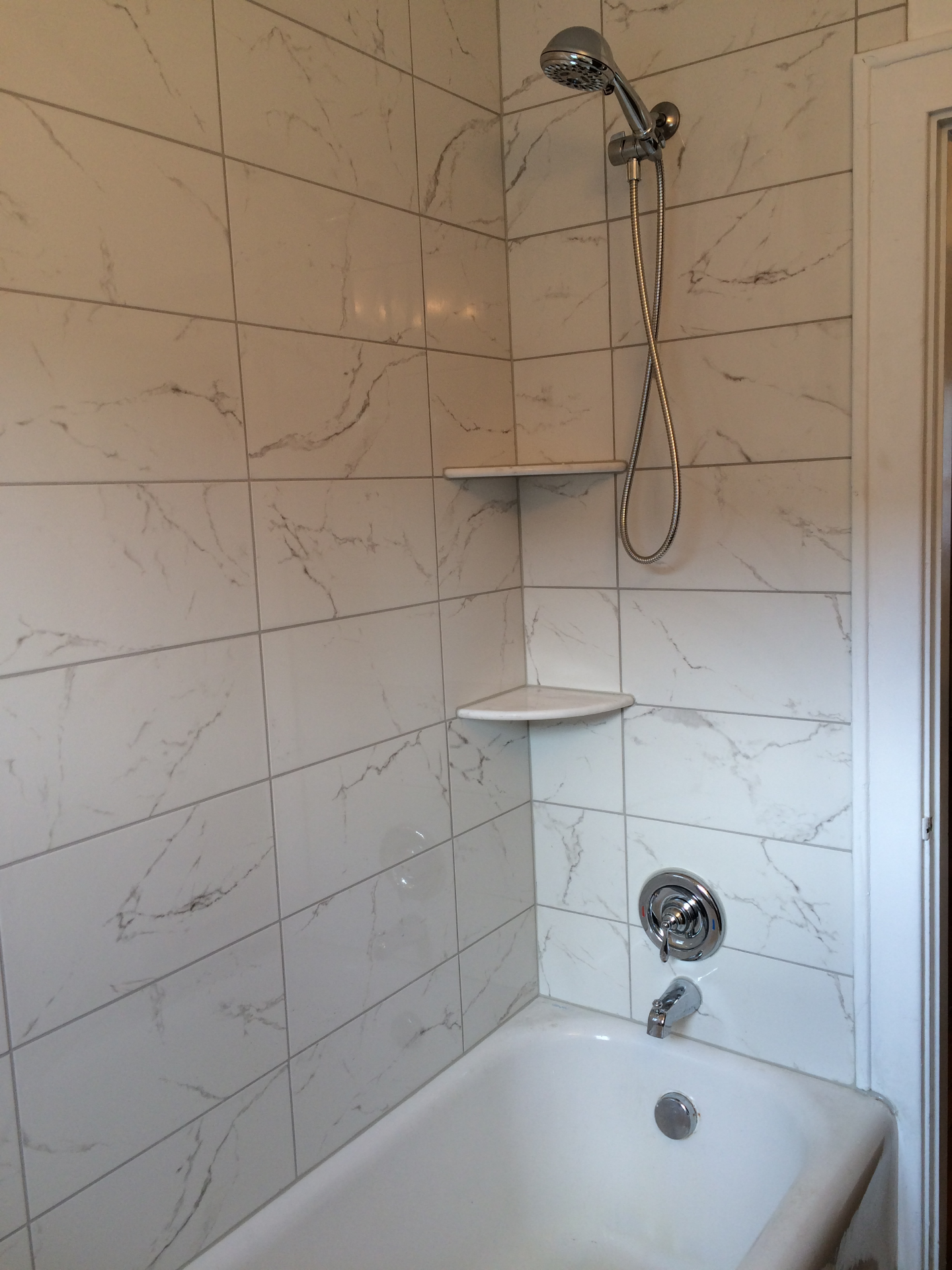 New Shower Tile and Fixtures