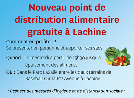 Un nouveau point de distribution alimentaire gratuite