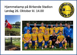 Endnu en hjemmekamp på Birkende Stadion 😀 Grundet ændringer i sidste spillerunde er kampen mod Aged