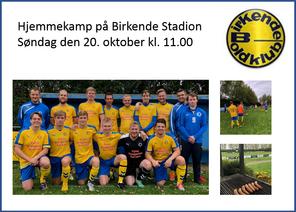Søndag kl. 11.00 spiller Birkende sidste hjemmekamp i 2019 mod Nyborg. Et vaskeægte topopgør, hvor n