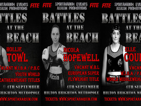 TEEN SENSATION HOLLIE TOWL CHALLENGES FOR CHAMPIONSHIP HONOURS SEPT 4TH.