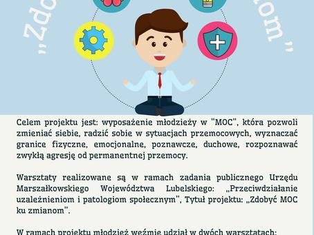 """Nasza Szkoła bierze udział w projekcie - """"Zdobyć MOC ku zadaniom"""""""