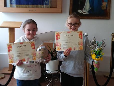 """Rozstrzygnięcie szkolnego konkursu ,,Wielkanocne dekoracje"""" już za nami…"""