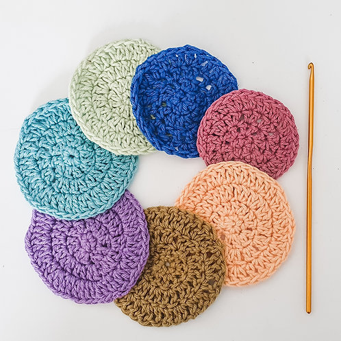 Crochet Cotton Face Scrubbies Kit (Makes 7)