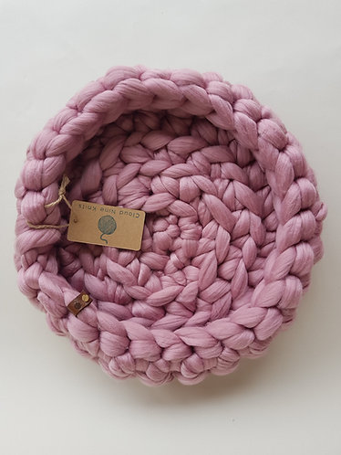Soft Pink Giant Crochet Cat Bed
