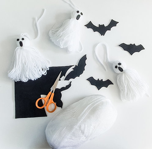 Spooktacular Ghosts and Bat Stickers DIY Craft Kit