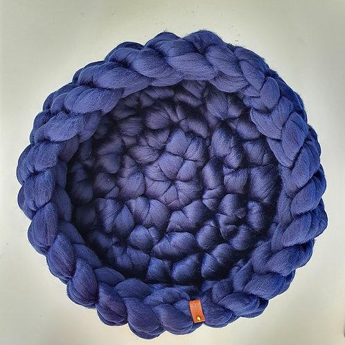 Midnight Blue Giant Crochet Cat Bed