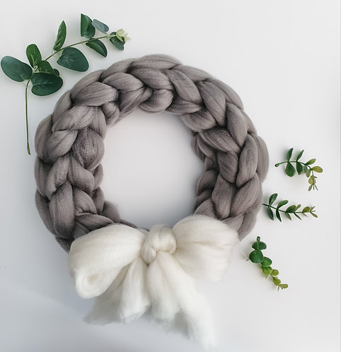 Giant Knit Wreath - Ready Made