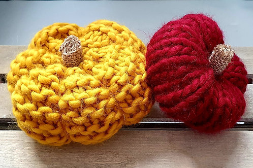 DIY Knitted Pumpkins Kit