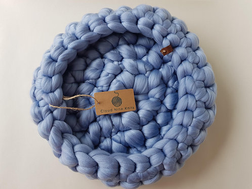 Sky Blue Giant Crochet Cat bed