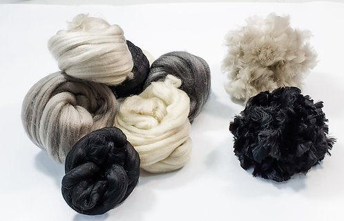 Giant Yarn Pom Pom Kit - Monochrome