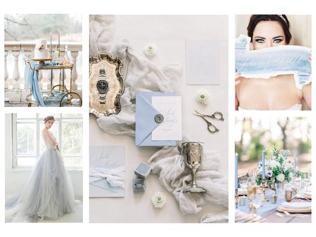 Dusty blue wedding