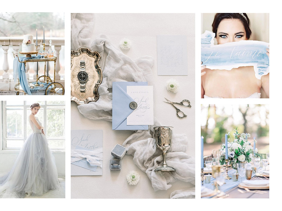 dusty blue wedding - alexia simonnet - w
