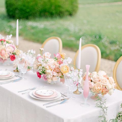 table de reception, decoration florale, mariage, orleans, wedding planner, alexia simonnet