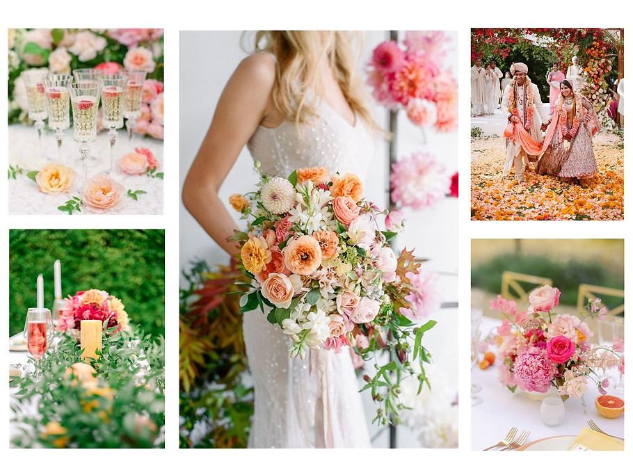 colorful wedding - alexia simonnet - wed