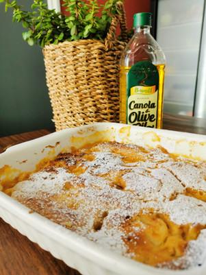 Saucing Mango Pudding