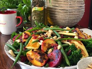 Vegetable and Roasted Fruit Christmas Salad