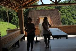 Área de churrasco do Chalé Grande