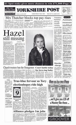 1983 Yorkshire Post Newspaper