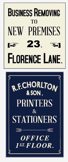 1950s Street Signage