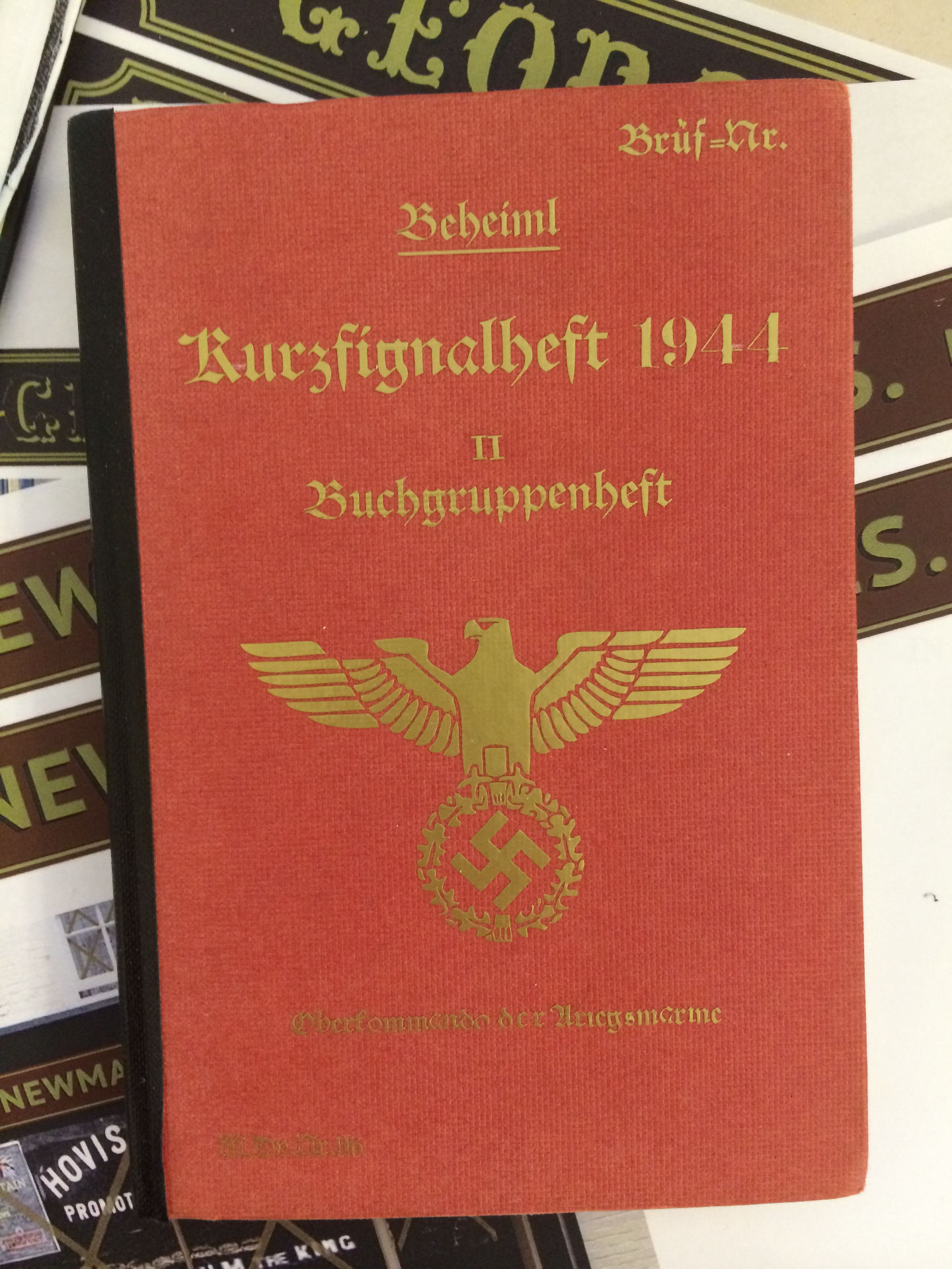 Nazi German Code Book